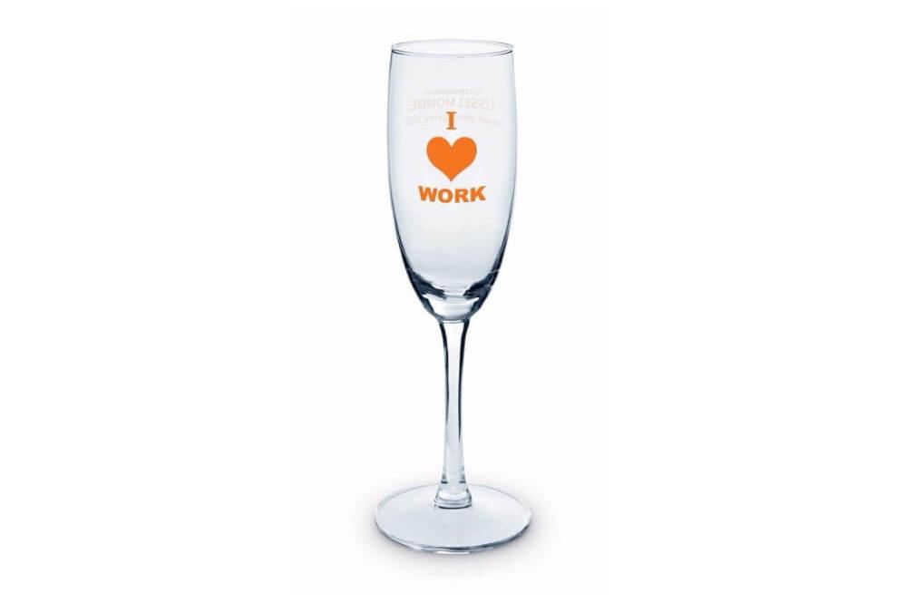 Kieliszki do szampana z logo KZL13175-14
