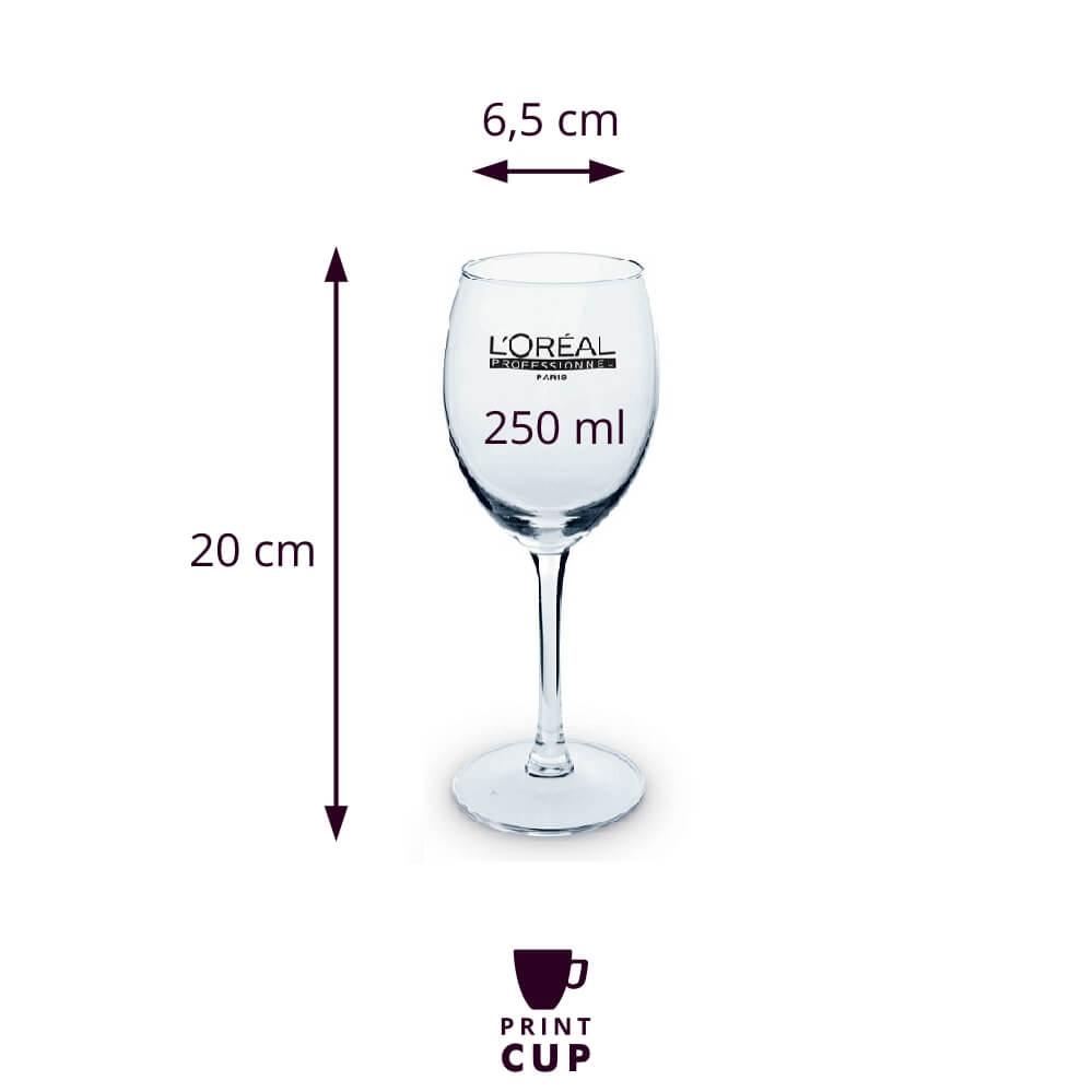 Kieliszki do wina z logo KZL13177-W