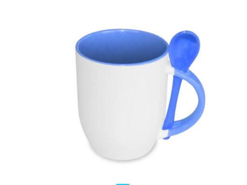 Kubek ceramiczny z łyżeczką KZL13128S-1