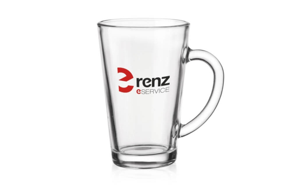 Kubek z grubego szkła z logo KZL13148-14