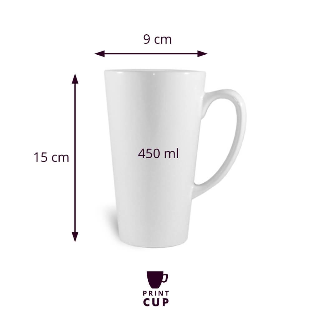 Kubki do latte z nadrukiem KZL13190LB-W