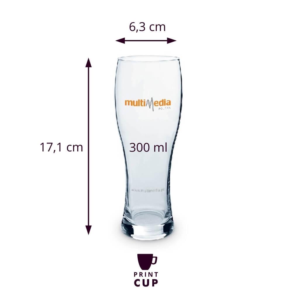 Szklanka do piwa z logo firmy KZL13168-W